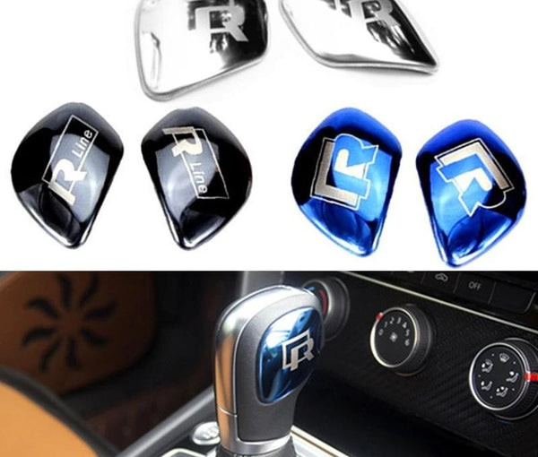 R Line Chromed Gear shift Knob Trim Cover Plate for Volkswagen VW TIGUAN GOLF POLO Beetle Bora Passat CC Scirocco Sagitar Lavida