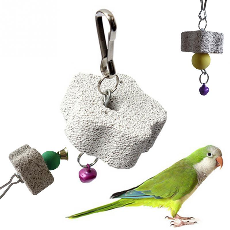 2018 new arrival Parrot Mouth Grinding Blah Stone Bird Toy Molar Stone Cage Toys Parakeet Cockatiel Budgie Products