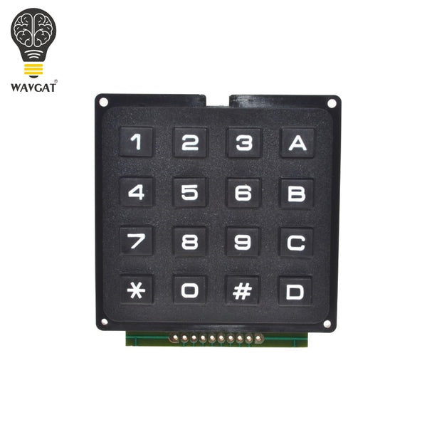 WAVGAT 4 x 4 Matrix Array 16 Keys 4*4 Switch Keypad Keyboard Module for Arduino