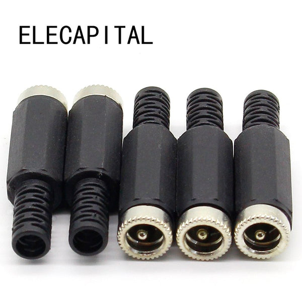 5 pcs 2.1mm x 5.5mm Female DC Power Socket Jack Connector Adapter