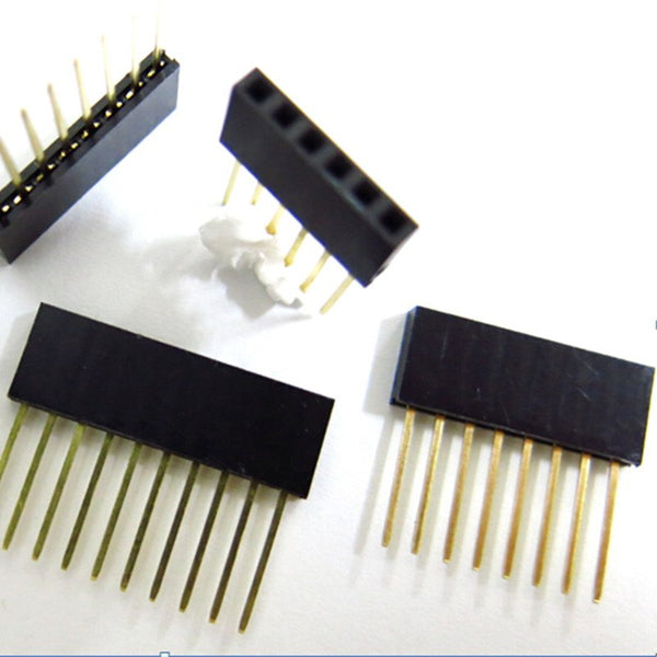 2.54mm Single Row Female Long pins 11mm Breakaway PCB Board Pin Header socket Connector 1*2/3/4/6/8/10/15Pin For Arduino
