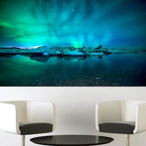 HDARTISAN Wall Art Pictures For Living Room Northern Lights Canvas Painting Home Decor Landscape Photography Frameless