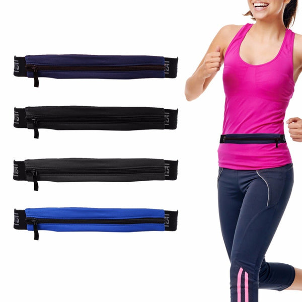 Unisex Running Waist Bag Travel Handy Hiking Sport Waist Belt Zip Fanny Pack Running Bag Sport Phone Storage Packs