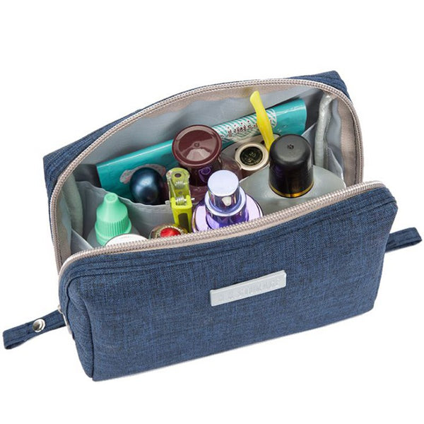 Casual Travel Women Cosmetic Bag Zipper Make Up Function Makeup Case Organizer Storage Pouch Toiletry Beauty Wash Kit Bath Bags