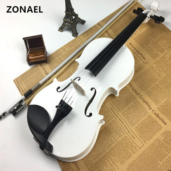 ZONAEL 4/4 Full Size Natural Acoustic Violin Fiddle with Case Bow Rosin Musical Instrument  Basswood v001