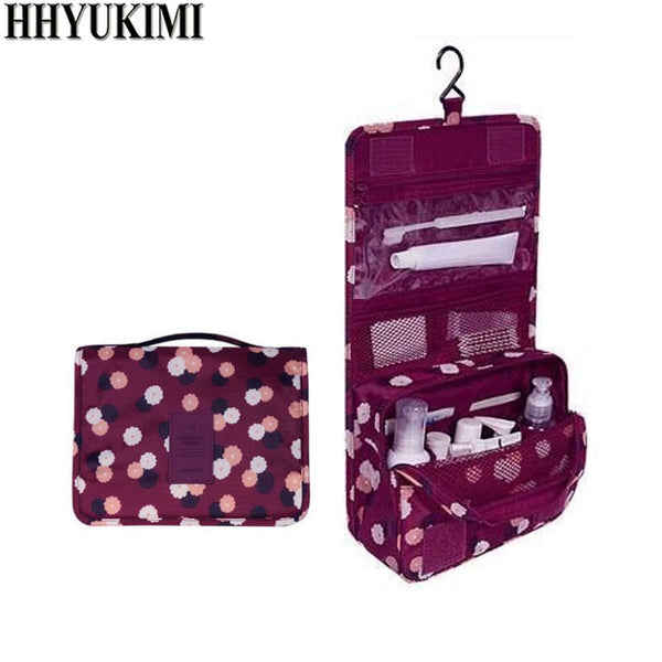 HHYUKIMI Brand Hanging Cosmetic Bag Beauty Makeup Bag Women Travel Portable Cosmetics Organizer Men Bath Waterproof Washbag