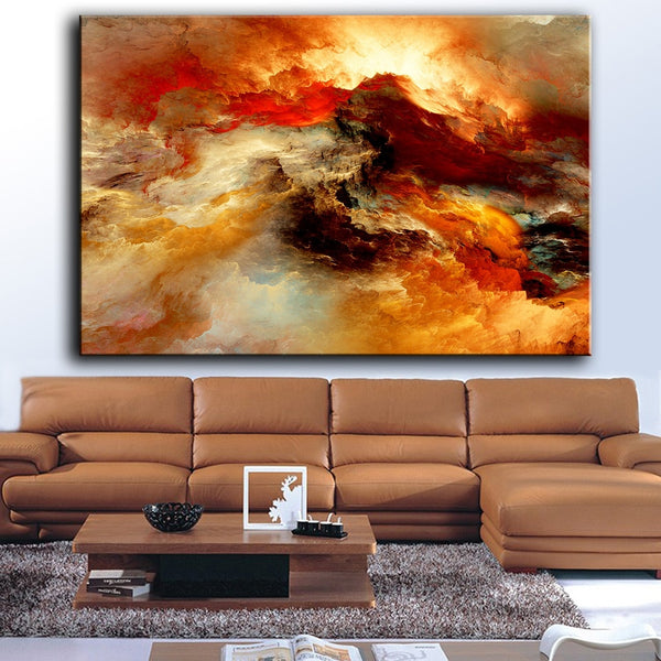 HDARTISAN Oil Painting Abstract Unreal Clouds 5437 Wall Pictures For Living Room Home Decor Canvas Art No Frame