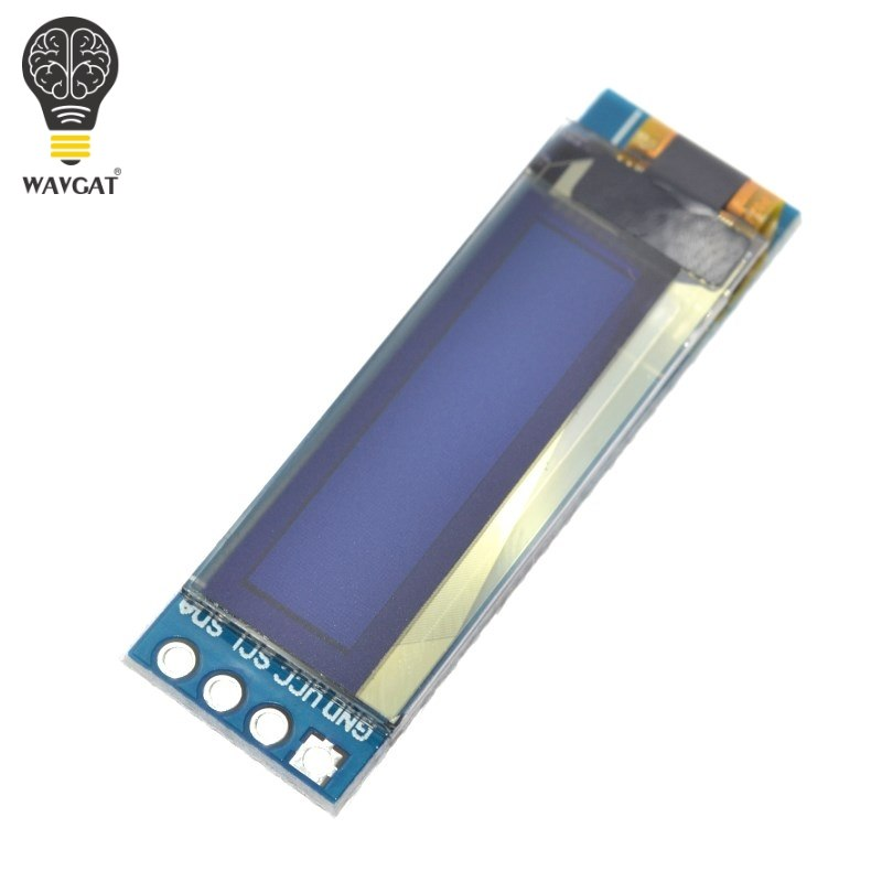 "WAVGAT 0.91 inch OLED module 0.91"" white OLED 128X32 OLED LCD LED Display Module 0.91"" IIC Communicate"