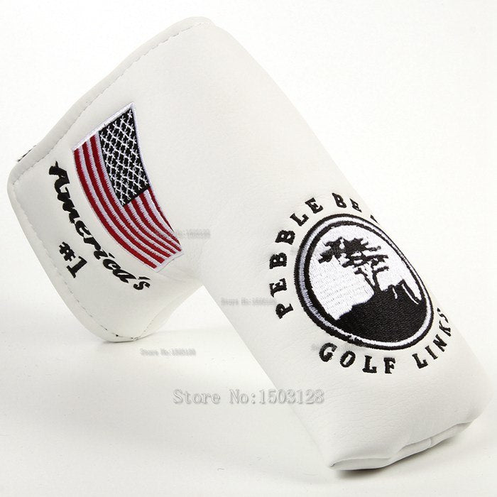 Everything.Bargains new usa american no.1 flag long lifetree white golf putter cover headcover closure for blade golf putter