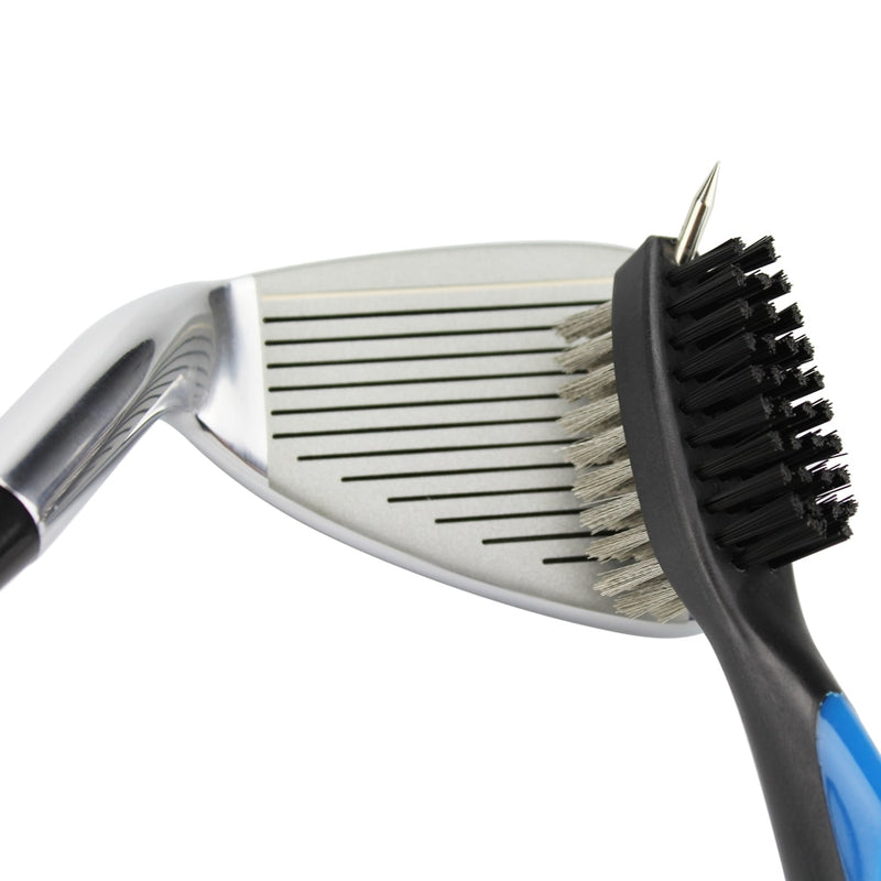 Golf Club Brush Golf Groove Cleaning Brush 2 Sided Golf Putter Wedge Ball Groove Cleaner Kit Cleaning Tool Gof Accessories