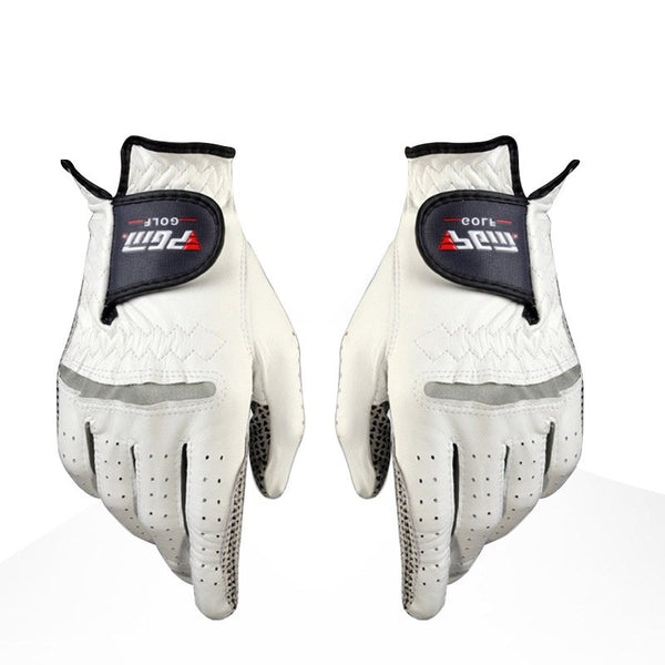 Golf Gloves Men's Golf Anti-slip Design Genuine Leather Gloves Left and Right Hand Breathable Sports Gloves