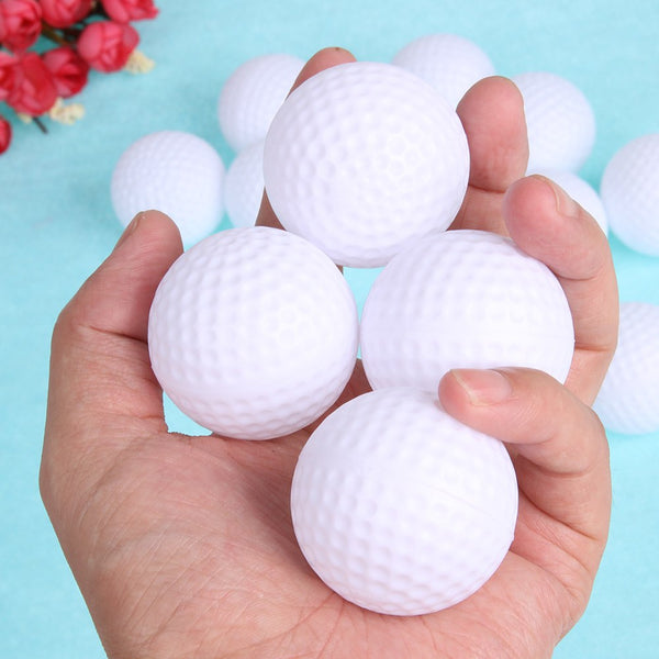 12pcs/lot Golf Balls Plastic Hollow Out Sports Training Tennis White Round Practice Golf Balls Accessories