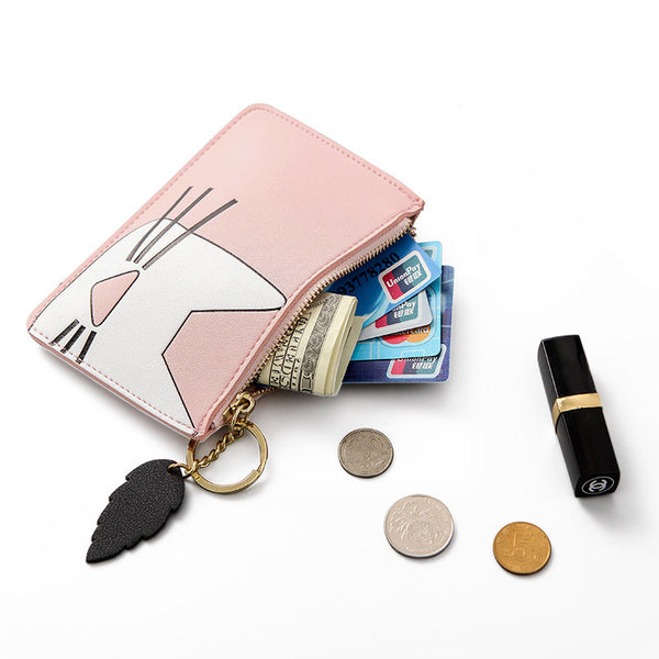 APP BLOG Brand Cute Cat Women Coin Purse Mini Small Clutch Card Holder Bags Wallet Carteira femme Feminina Mujer Girl Teenager