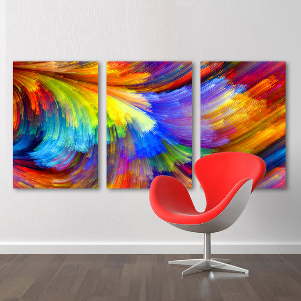 HDARTISAN Wall Art Canvas Pictures Colorful Pattern Painting For Living Room Home Decor No Frame