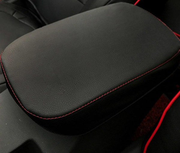 Vtear For Hyundai KONA Encino 2018 Central armrest box protection PU leather cover interior decoration accessories car-styling