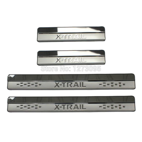 For Nissan X-Trail X Trail XTrail T32 T31 2008-2016 2017 2018 Stainless Door Sills Kick Plates Protector Car Styling Accessories