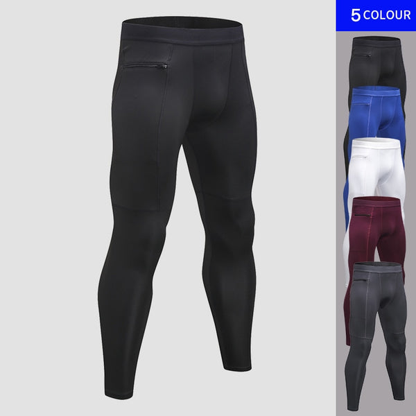 New Zipper Pocket Sport Pants For Men Quick Dry Men's Running Pant Jogging Pant Gym Fitness Clothing Training Sport Trouser