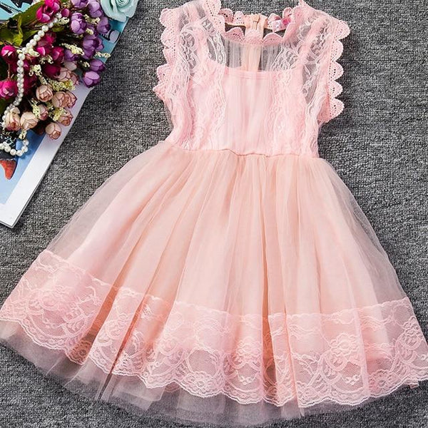 2019 Baby Girl Floral Lace Princess Tutu Dress Wedding Christening Gown Dress Girls Clothes For Kids Party Wear Meninas Vestidos