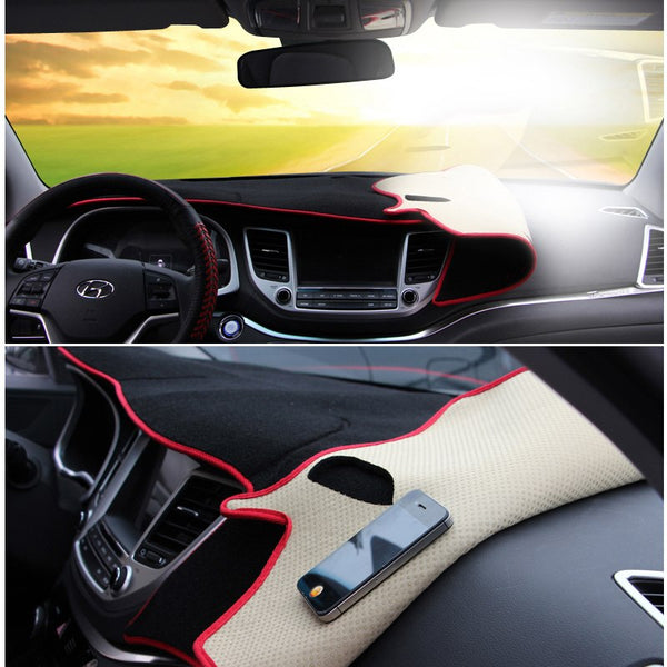 For Hyundai Tucson 2015 2016 2017 2018 LHD Car Dashboard Avoid Light Pad Instrument Platform Desk Cover Mat Carpets Accessory