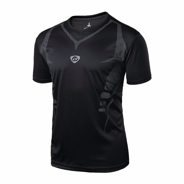 2018 Sport Men Quick Dry Wicking Running T-shirts Mallas Hombre Training Compression Breathable Sports Fitness Gym Shirts