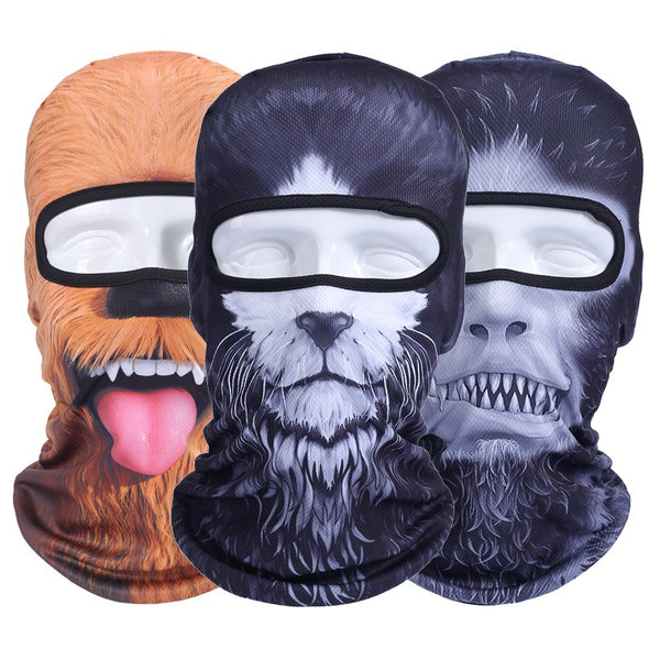 Balaclava Motorcycle Full Face Mask 3D Animal Cat Dog Hats Helmet Windproof Airsoft Paintball Snowboard Cycling Ski Halloween