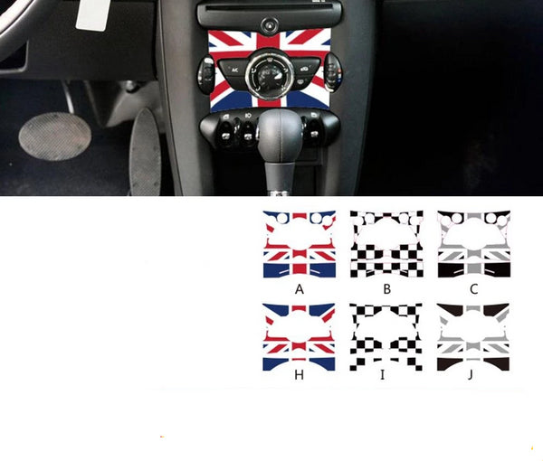 Union Jack PVC Vinyl Car Control Panel Decals Sticker for MINI COOPER JCW R55 R56 R57 R58 R59 R60 R61 Countryman Car Accessories