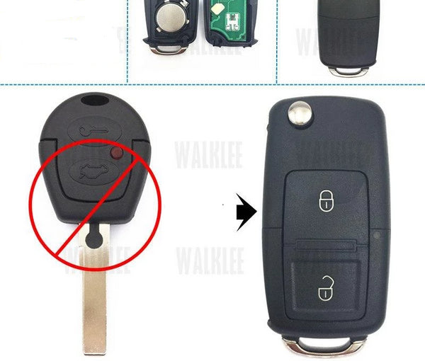 WALKLEE Upgrade Key Car Remote 5WK4 790/97/98 433.92MHz for Ford Galaxy HU66 Blade Without Chip