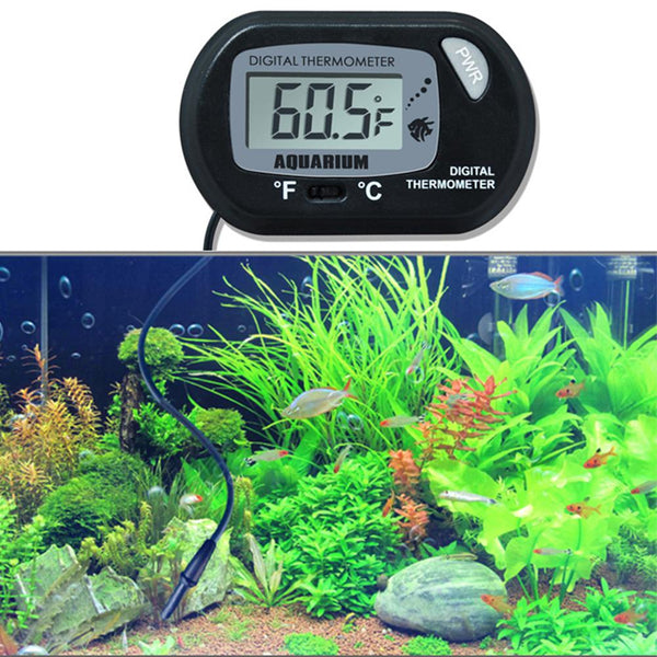 SaiDeng Practical Digital LCD Screen Water Thermometer with Sucking Disk for Aquarium Fish Tank Reptile Cave-25