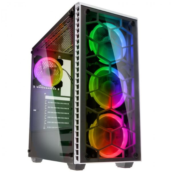 Tempered Glass RGB Gaming PC RYZEN 5 2600X 4.2GHz, SSD 480GB, RX 570 8GB DDR5, WIFI