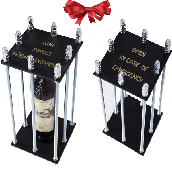 Bottle In The Cage - Open in Case of Emergency - The Perfect Gift Idea