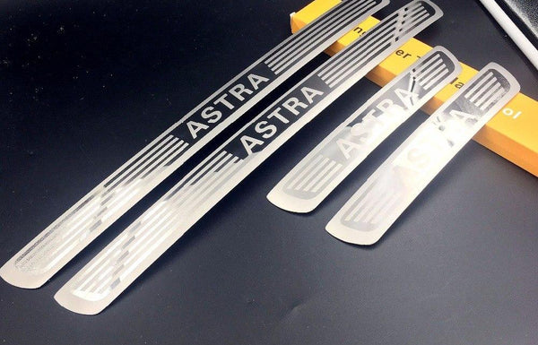 for Opel Vauxhall Astra door sill car-styling stainless steel 4pcs/set car styling Opel decorate molding Astra tool