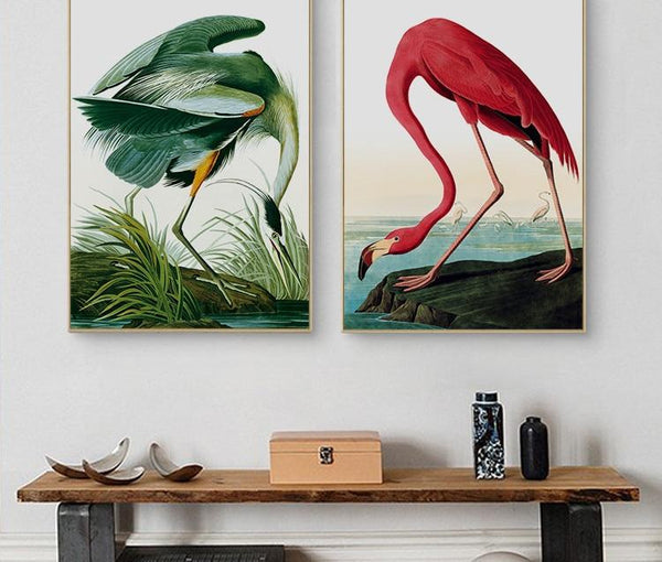 Everything.Bargains Canvas Painting Print Wall Art poster vintage posters prints animal picture American flamingo for living room decor
