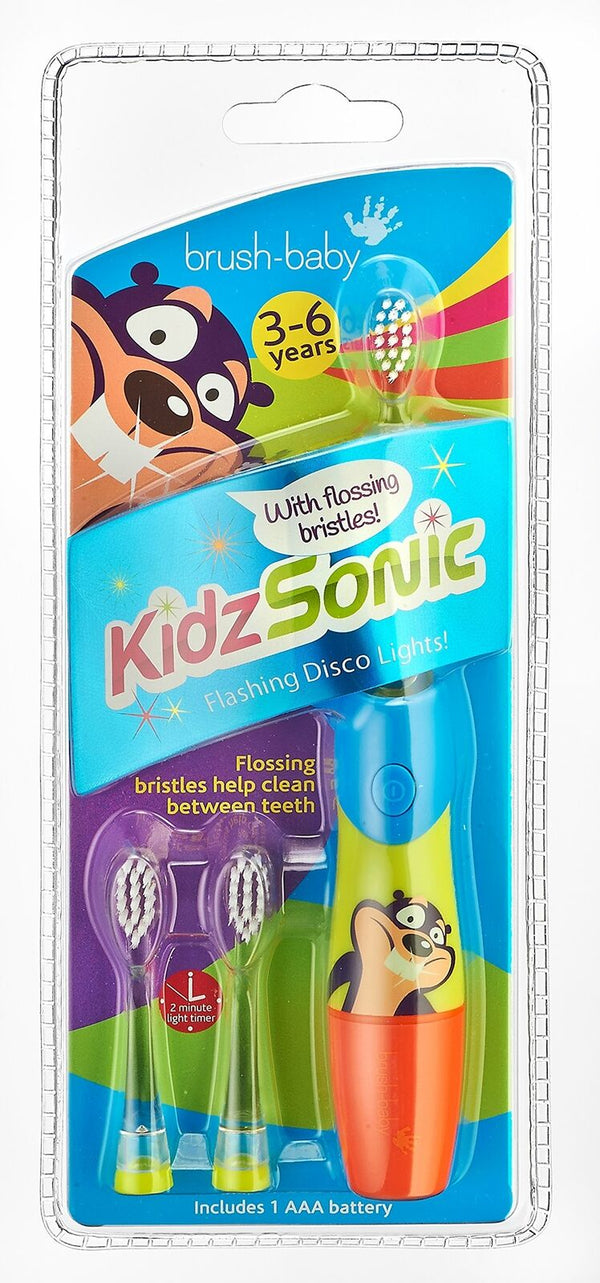 Brush Baby Blue Sonic Electric Toothbrush Replaceable Head For Kids Fun Flashing