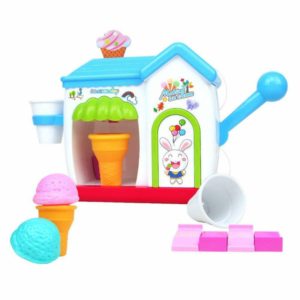 Baby Bath Toys Ice Cream Maker Machine Pretend Play Set Bathtub Toy Foam Kids