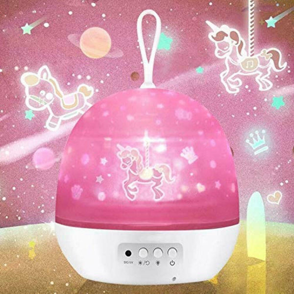 Girls Night Light Baby Projector Lamp tar Sky Ocean Universe Carousel Rotating