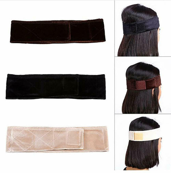 3 Pack Wig Band Velvet Adjustable Non Slip Headband Keeping Wigs From Slipping