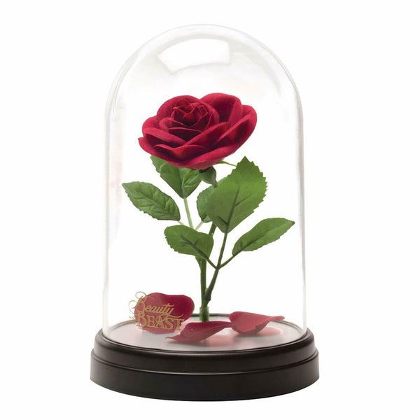 Beauty And The Beast Enchanted Rose Light In Glass Dome Night Light Mood Lamp
