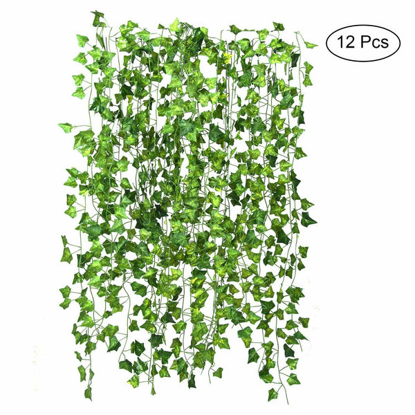 12 Pack Artificial Ivy Garland Fake Ivy Vine Plant Xmas Wedding Garland 84 Ft