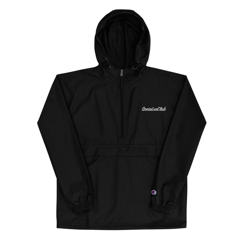 SociaLuxClub Embroidered Champion Packable Jacket