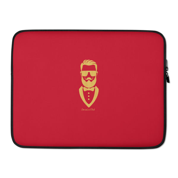 Golden Gentleman Red Laptop Sleeve