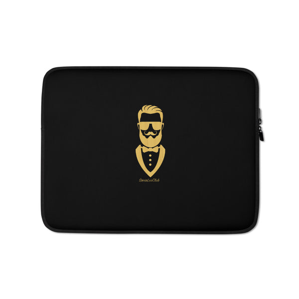 Golden Gentleman Black Laptop Sleeve