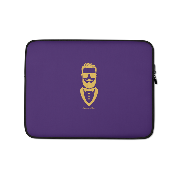 Golden Gentleman Purple Laptop Sleeve