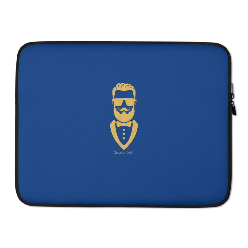 Golden Gentleman Blue Laptop Sleeve