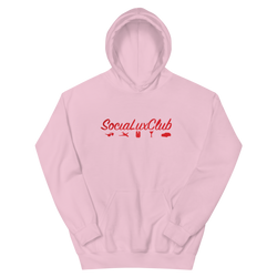 Red Satin Banner Hoodie