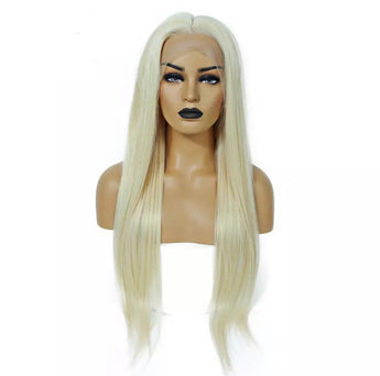 Russian blonde straight lace frontal unit