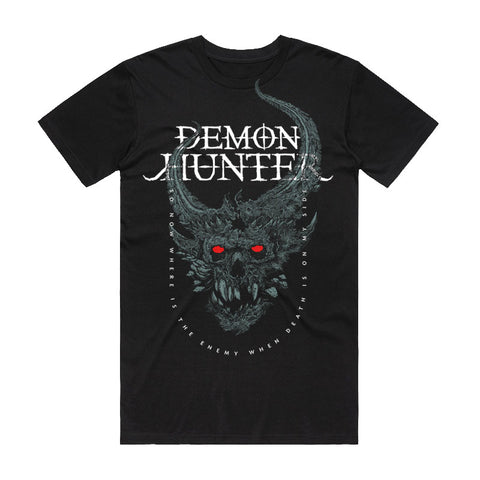Demon Hunter - On My Side Shirt (Ice) | Merch Connection - Metal, hardcore, punk, pop punk, rock, indie, and alternative band merchandise
