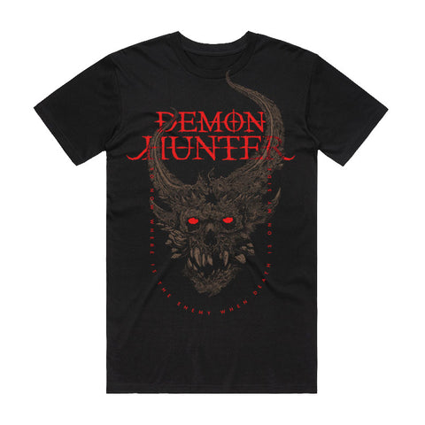 Demon Hunter - On My Side Shirt (Blood) | Merch Connection - Metal, hardcore, punk, pop punk, rock, indie, and alternative band merchandise