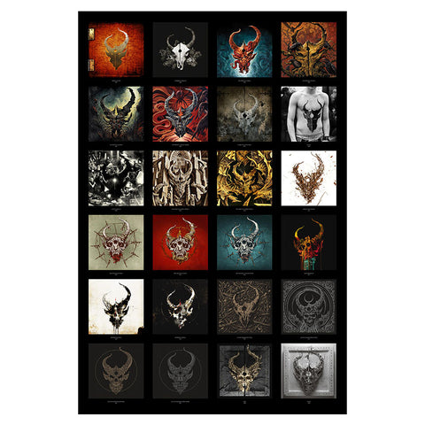 Demon Hunter - Discography 24x36 Poster with Poster Tube | Merch Connection - Metal, hardcore, punk, pop punk, rock, indie, and alternative band merchandise