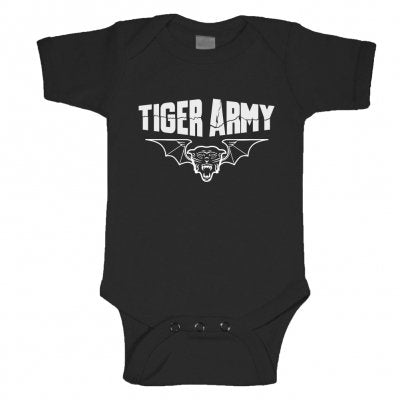 Tiger Army - Tiger Bat Onesie | Merch Connection - Metal, hardcore, punk, pop punk, rock, indie, and alternative band merchandise