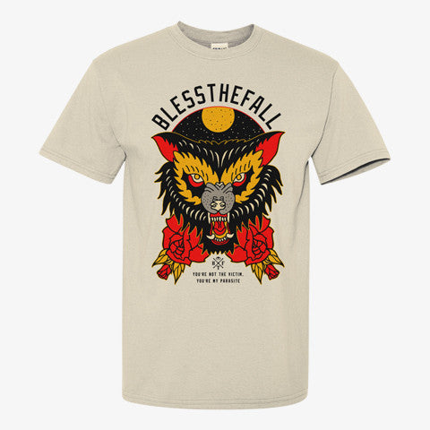 Blessthefall - Parasite Shirt (Natural) | Merch Connection - Metal, hardcore, punk, pop punk, rock, indie, and alternative band merchandise
